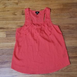 Mossimo coral tank top size small